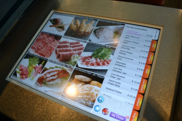 Food ordering via iPad