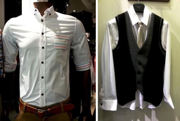 Shirt and vest at $69 each   Tie at $49  (Natural Project #02-17)